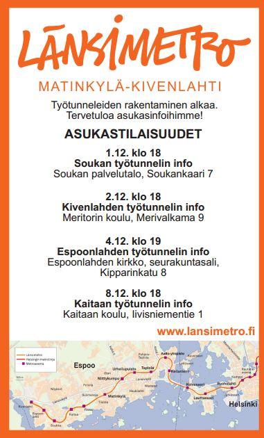 Metro Ja Muut Kaavoitusasiat Kivenlahti Stensvik Ry