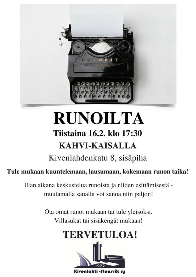 Runoilta_16022016